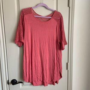 Pink lace tunic